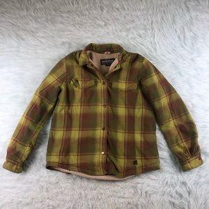 Woolrich Flannel Lined Jacket Women's Medium Plaid